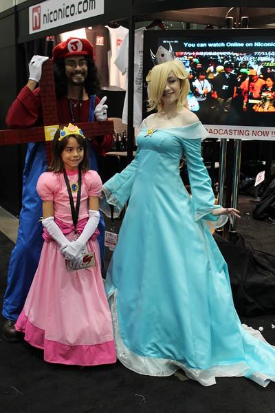 Mario, Princess Peach, and Rosalina