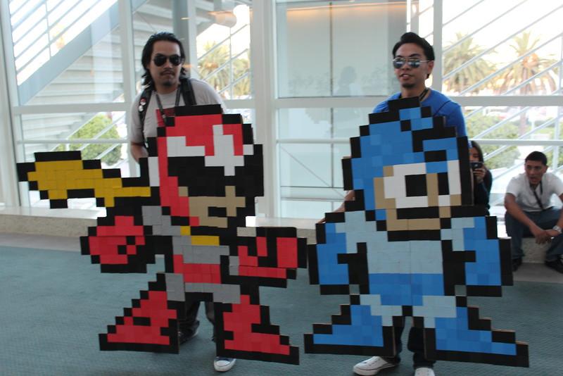 Proto Man and Mega Man