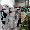 Stormtrooper and Green Ranger