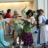 Princess Jasmine, Tinker Bell, Esmeralda, and Belle