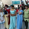 Alice, Snow White, Princess Jasmine, Wendy, and Peter Pan
