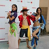 Nico Robin, Monkey D. Luffy, and Boa Hancock