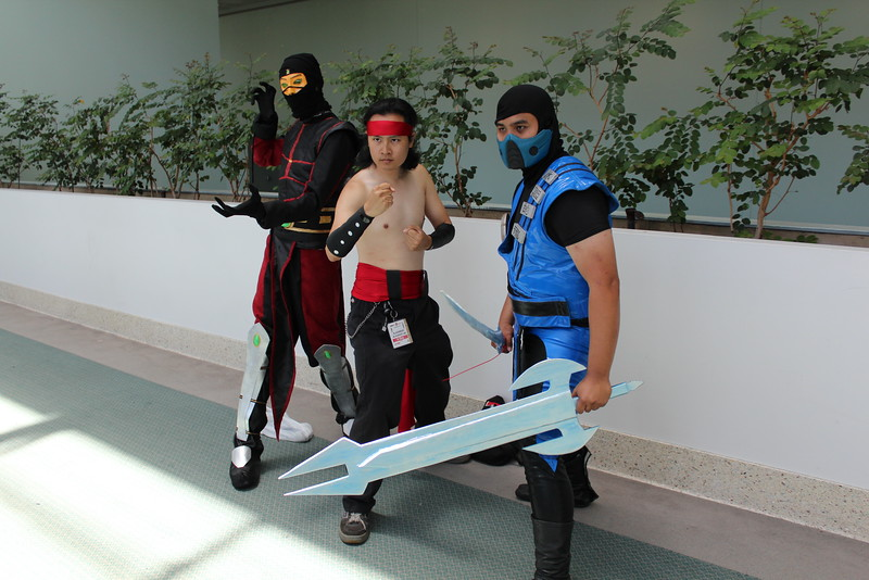 Ermac, Liu Kang, and Sub-Zero