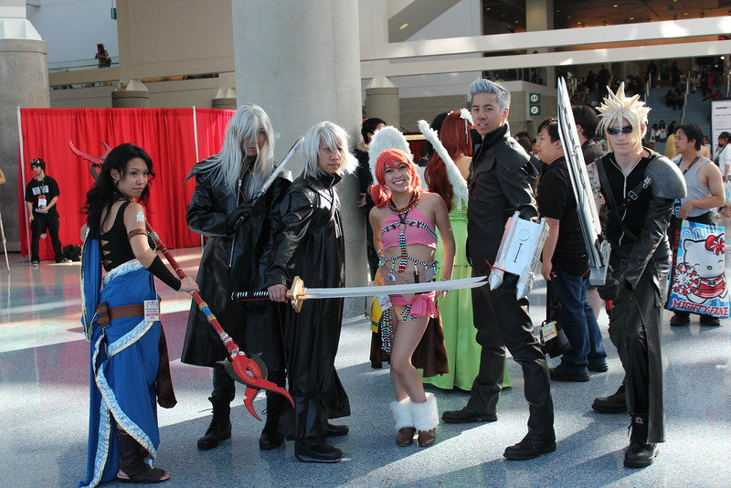 Oerba Yun Fang, Yazoo, Kadaj, Oerba Dia Vanille, Loz, and Cloud Strife
