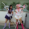 Sailor Saturn and Sailor Chibi Moon