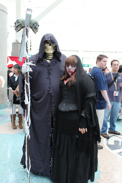 Grim Reaper and Zombie