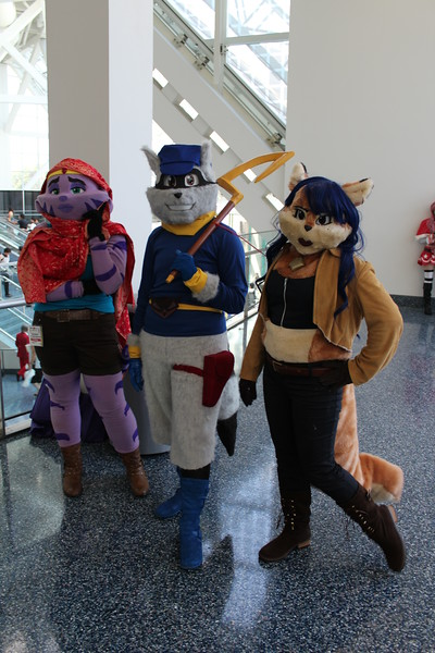 Constable Neyla, Sly Cooper, and Carmelita Fox