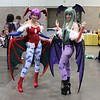 Lilith and Morrigan Aensland