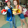 Ash Ketchum, Misty, and Pikachu