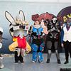 Genji, Zenyatta, Zarya, Reaper, and Soldier: 76