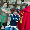 Bolin, Korra, and Tenzin