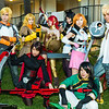 Jaune Arc, Yang Xiao Long, Ruby Rose, Pyrrha Nikos, Blake Belladonna, Nora Valkyrie, Lie Ren, and Sun Wukong