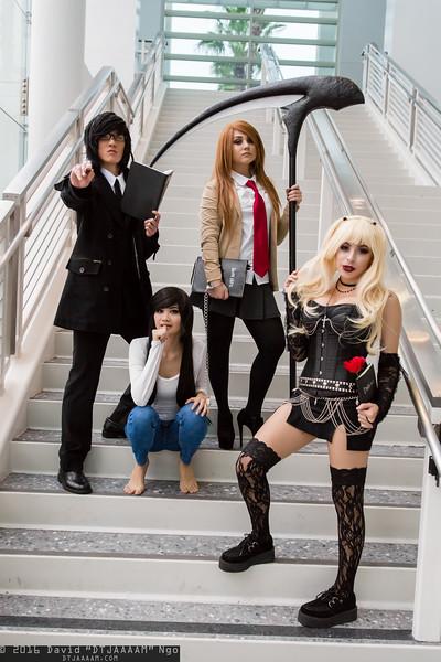 Teru Mikami, L, Light Yagami, and Misa Amane