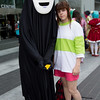 No-Face and Chihiro Ogino