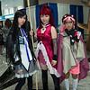 Homura Akemi, Kyoko Sakura, and Charlotte