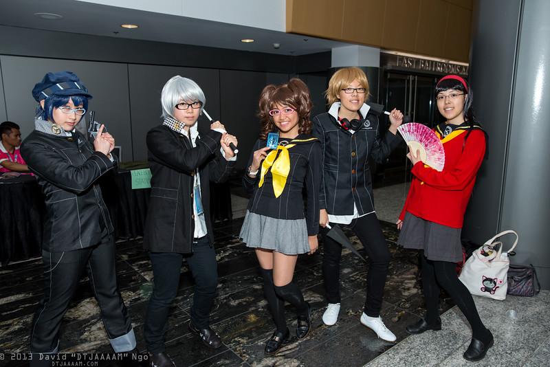 Naoto Shirogane, Yu Narukami, Rise Kujikawa, Yosuke Hanamura, and Yukiko Amagi