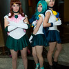 Sailor Jupiter, Sailor Neptune, and Sailor Uranus