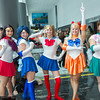 Sailor Mars, Sailor Mercury, Sailor Moon, Sailor Venus, and Sailor Jupiter