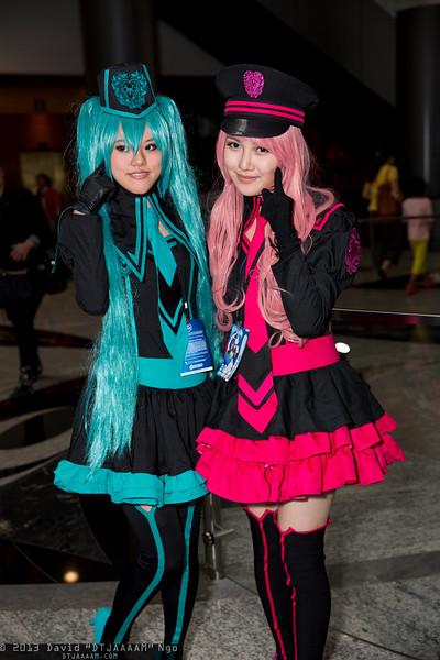 Hatsune Miku and Megurine Luka