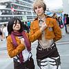 Mikasa Ackerman and Jean Kirschtein