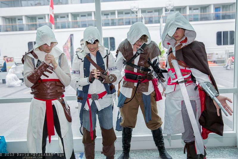 Altair Ibn-La'Ahad, Connor Kenway, Edward Kenway, and Ezio Auditore da Firenze