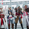 Altair Ibn-La'Ahad, Connor Kenway, Edward Kenway, and Ezio Auditore da Firenze