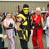 Akuma, Dan Hibiki, Scorpion, Ken Masters, and Ryu