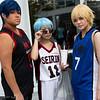 Daiki Aomine, Tetsuya Kuroko, and Ryota Kise