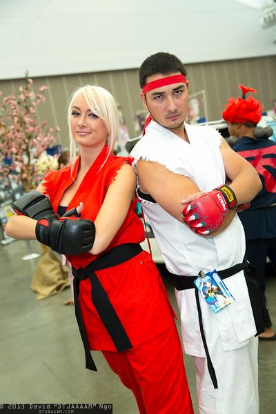Ken Masters and Ryu