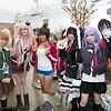 Chihiro Fujisaki, Junko Enoshima, Aoi Asahina, Celestia Ludenberg, Kyouko Kirigiri, and Monokuma