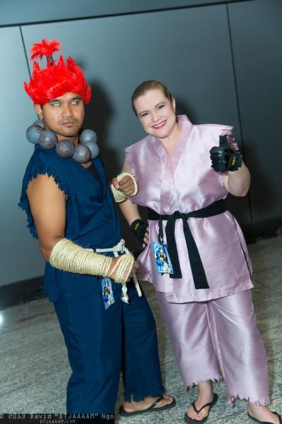 Akuma and Dan Hibiki