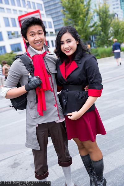Mako and Asami Sato