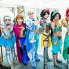 Megara, Cinderella Anna, Elsa, Snow White, Princess Jasmine, and Ariel