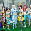 Anna, Megara, Princess Jasmine, Elsa, Snow White, Ariel, and Cinderella