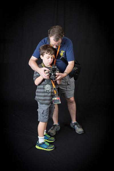 Roger helping Elliot set-up his camera