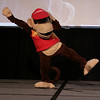 Whitney as Diddy Kong of Super Smash Brothers at the 2009 Anime Weekend Costume Contest