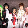 Lelouch View Britannia, C.C., Suzaku Kururugi, Euphemia, and Kauya Sumeragi of Code Geass Costume Contestants at Anime Weekend Atlanta 14