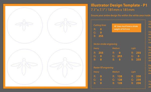 Simple disk template made in Illustrator