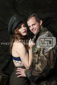 Michelle and the soldier