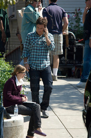 Jason Bateman during the set of the Baster with juliette lewis,Jennifer Aniston and Jeff Goldblum in Los Angeles,California.