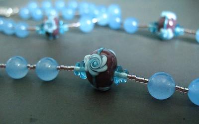 anita's rosary in brazilian aquamarine