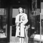 1941c Beth in Front of Vernal Drug