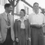 1942 California Trip - John, Lois & Don Walker