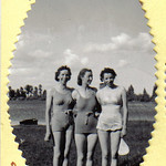 1940c Beth, Edna McConkie & Lois in Swimming Suits