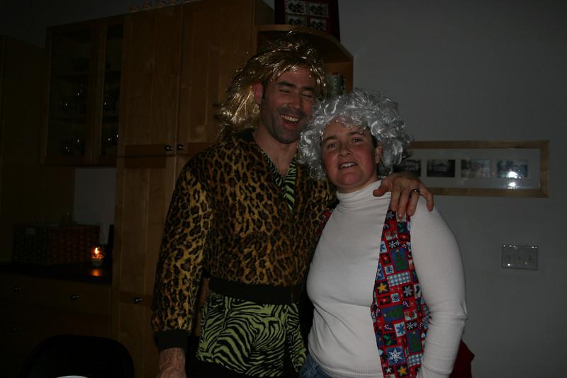 Poison and Barbara Bush at Christmas.
