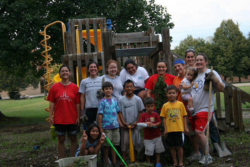 Weeding Crew helping keep Riverside Park beautiful!