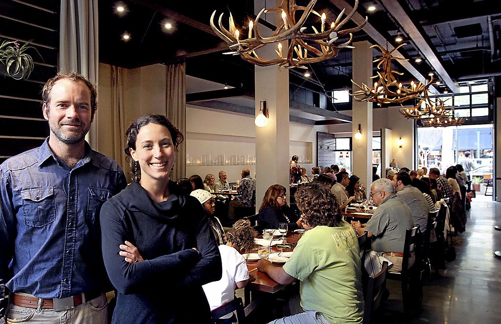 . Penny Ice Creamery\'s Zachary Davis and Kendra Baker designed Assembly to be an open and welcoming community gathering spot for a good meal. (Shmuel Thaler-- Santa Cruz Sentinel)
