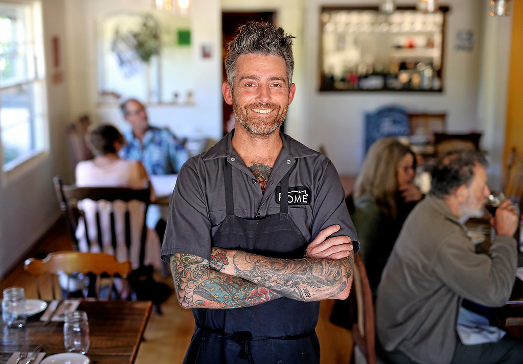 . Brad Briske is the proud owner and chef at Home in Soquel. (Kevin Johnson -- Santa Cruz Sentinel)