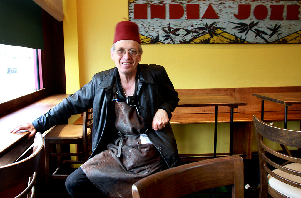 . Josef Schultz is up to his old tricks, namely, making mischief in the kitchen at India Joze to serve up some of the most delectable and interesting cuisine in town. Photo by Shmuel Thaler/Santa Cruz Sentinel