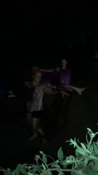 Dancing in the dark. Eryka and Beth